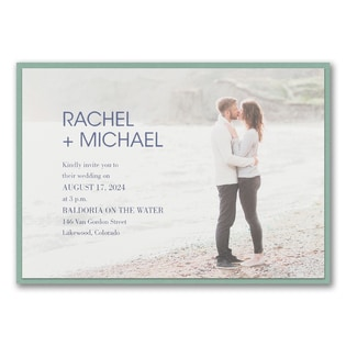 : Simple Portrait Invitation with Backer