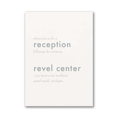 Decoratively Modern Reception Card