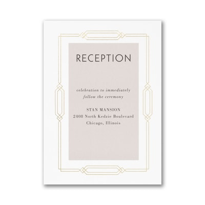 Geo Frame Reception Card