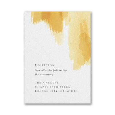 Painted Passion Reception Card