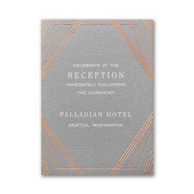 Geometric Stripes Reception Card