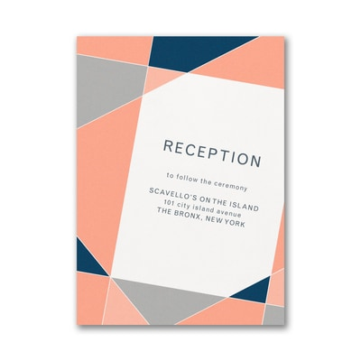 Geometric Color Block Reception Card