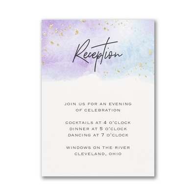 Watercolor Dreams Reception Card