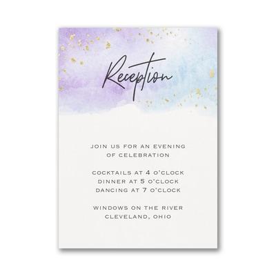 Watercolor Dreams Reception Card