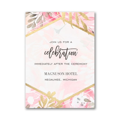 Vibrant Botanicals Reception Card