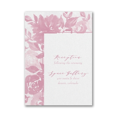 Botanical Elegance Reception Card