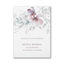 Boho Sophistication Reception Card