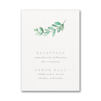 Simplistic Botanical Reception Card