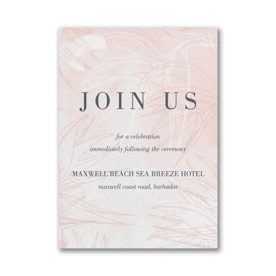 Welcoming Day Reception Card