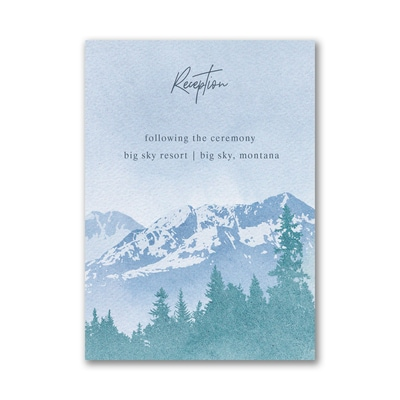 Mountain Beauty Reception Card