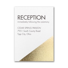 Modern Shine Reception Card