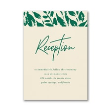 Wondrous Greenery Reception Card
