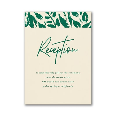 Wondrous Greenery Reception Card