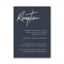 Typography Expression Reception Card