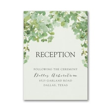 Cascading Vine Reception Card