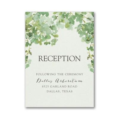 Cascading Vine Reception Card