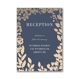 Decorative Floral Border Reception Card