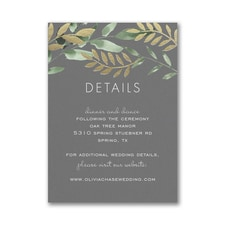 Botanical Grandeur Reception Card