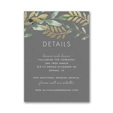 Botanical Grandeur Reception Card