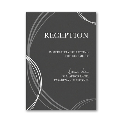 Circle of Leaves Reception Card