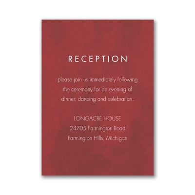 Bloom Bright Reception Card