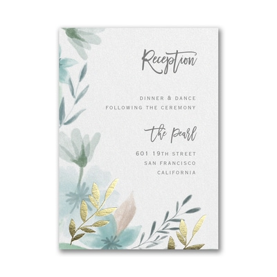 Botanic Beauty Reception Card