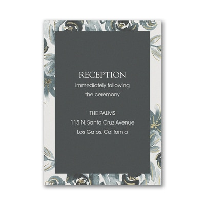 Alluring Roses Reception Card