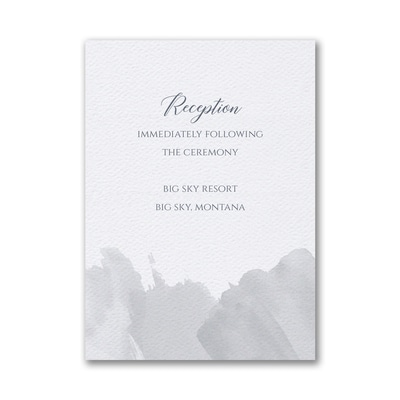 Brushed Watercolor Reception Card