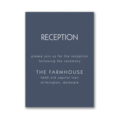 Large Ampersand Reception Card