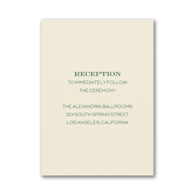 Initially Loved Reception Card