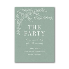 Whimsical Sprigs Reception Card