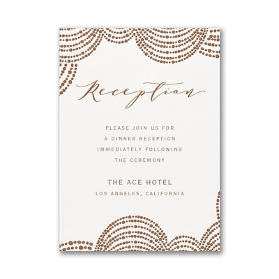 Dotted Garland Reception Card