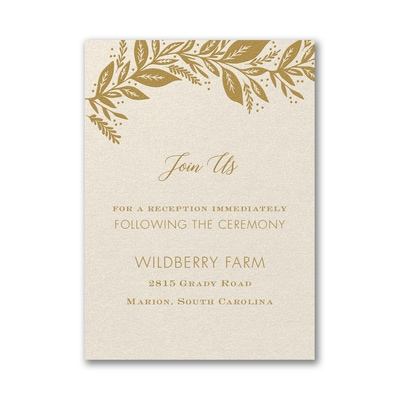 Canopy of Leaves Reception Card