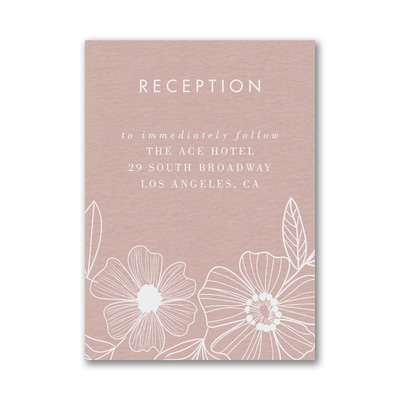 Blossoming Border Reception Card
