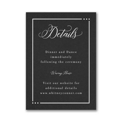 Edged Wedding Reception Card