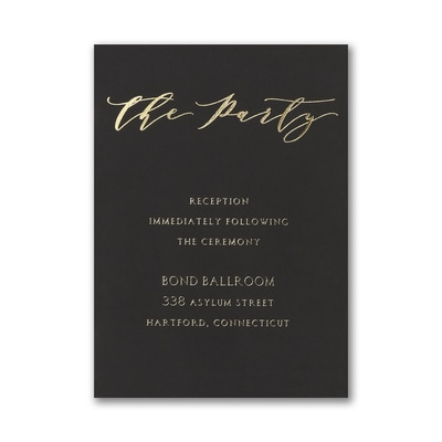 Simple Amour Reception Card