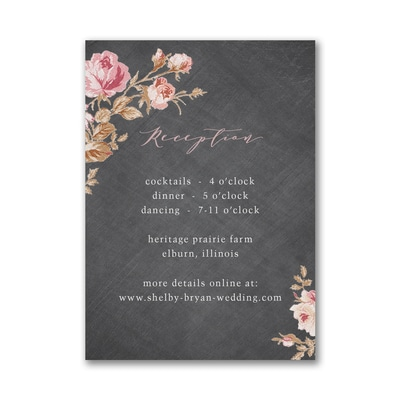 Wooden Blossoms Reception Card