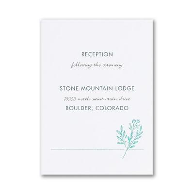 Greenery Initial Reception Card
