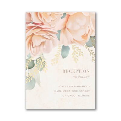 Refreshing Floral Reception Card