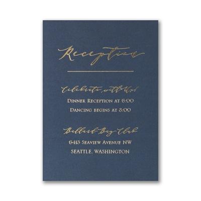 Linear Love Reception Card