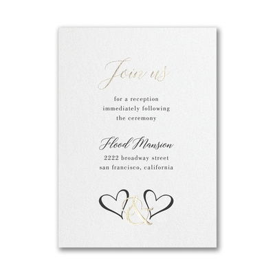 Ampersand Hearts Reception Card