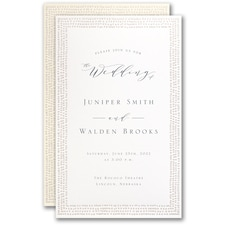 Simple wedding invitations: Dotted Border Invitation