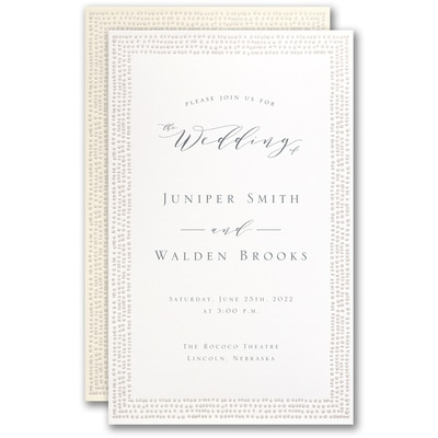 Dotted Border Invitation