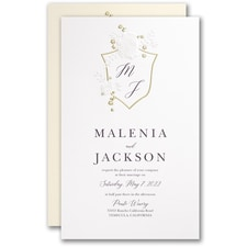 Wedding Invitation: Garland Crest Invitation