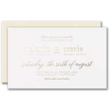 Luxury wedding invitations: Bevel Beauty Invitation