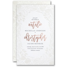 Pearl Blooms Invitation -