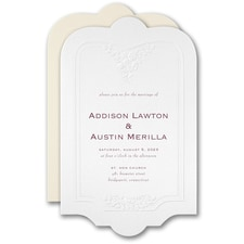 Best Selling Wedding Invitation: Flowered Frame Invitation