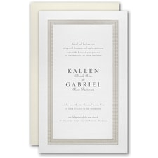 Simple wedding invitations: Delicate Dot Border Invitation