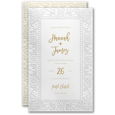 Modern wedding Invitation: Notable Border Invitation