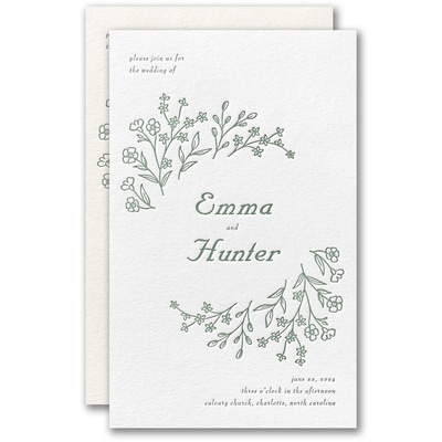 Dainty Flowers Invitation